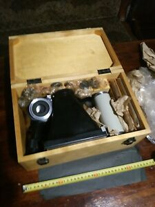 Set Vintage Microphotography Lomo Mfn 5 8 Microscope Photo Attachment Ussr