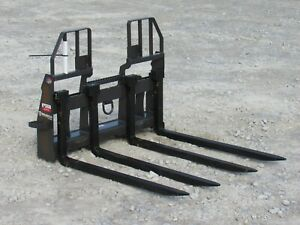 48 Bradco Block Brick Masonry Pallet Forks Walk Through Skid Steer Attachment