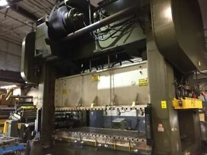 600 Ton Capacity Brown And Boggs Straight Side Press For Sale