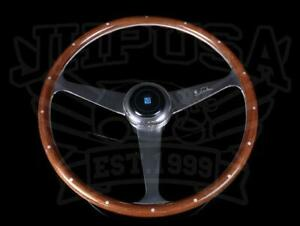 Nardi Anni 60 Mahogany Wood 380mm Steering Wheel Polished Spokes 5038 39 3000