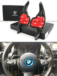 Carbon Fiber Steering Wheel Paddle Shifter Extension For Bmw 2 3 4 5 6 7 Series
