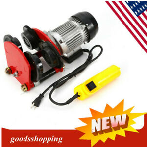 1t 2200lb Electric Push Beam Track Roller Trolley Overhead Garage Hoist