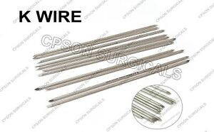 Orthopedic K Wire 0 8 Mm Lot Of 100pcs Stainless Steel