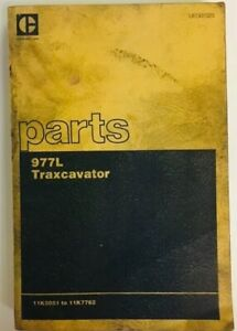 Vintage Caterpillar Cat 977l Traxcavator Part Book Illustrated Reference Manual