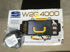 Superwinch Winch2go 12v 4000lb Portable Winch Wire Synthetic Ropes Included