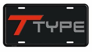 Buick Grand National T Type License Plate Stamped Black Red Silver License Plate