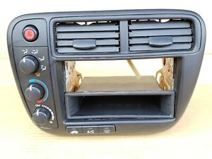 99 00 Honda Civic Ek Heater Climate Control Radio Vents Bezel Trim Oem Black 4