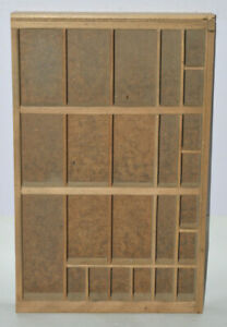 Vintage Printer s Letterpress Type Drawer Tray Left 1 3 Of California Job Case