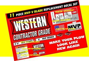 Western Snow Plow Mvp V Plow Ultramount Decal Replacement 11 Piece Kit New 8 6