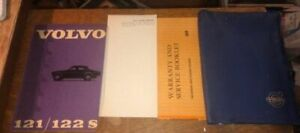 1966 Owners Manual Instruction Book Volvo 122s 122 Warranty Book Folder