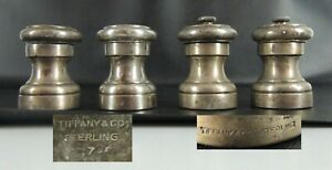 2 Sets 4 Pcs Vintage Tiffany Co Sterling Silver Salt Shaker Pepper Mill