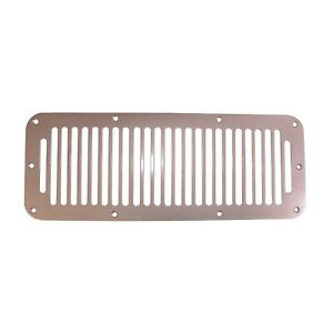 Rugged Ridge 11185 06 Cowl Vent Cover Satin Stainless Steel 76 95 Jeep Wrangler