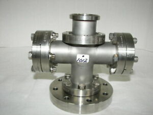 Mdc High Vacuum Research Chamber 4 way Stainless 2 75 Flange 41 2 Reducer