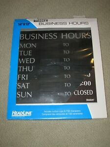 New Headline Sign Tabbee Business Hours Sign 14 In X 13 In Mpn 4247