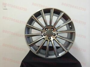 Set Of Staggered 18 S Amg Style Rims Wheels Fits C250 C300 C350 C400 C450
