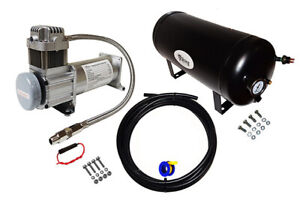 Viking Horns On Board Air System 3 Gal Tank 200 Psi Compressor For Train Horn