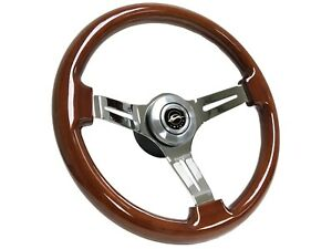 1958 1968 Chevy Impala Volante S6 Steering Mahogany Wood Wheel Resto Kit