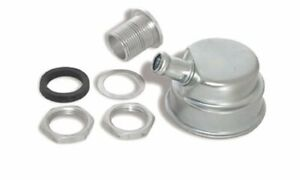 Moroso 68785 Valve Cover Breather Bolt on Round Steel Zinc Plated Plain Each