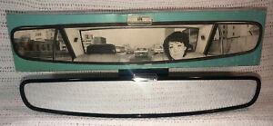 Vintage 1970s Two Seven Wide Rear View Mirror Elephant Brand Japan Nos Box 237