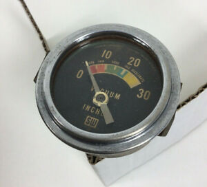 Vintage Stewart Warner Vacuum Gauge Inches Colors Hot Rod Gasser Stocker Usa