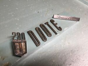 Lot 7 Car Emblem Oem Ford Chevy Chevelle 230 V8 Chrysler Newport Custom Letter D
