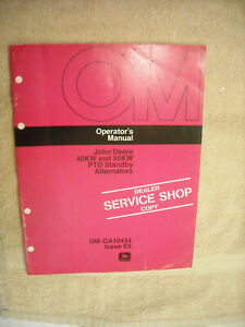 John Deere Om ga10434 Operators Manual For 40kw 55kw Pto Generators Issue E5