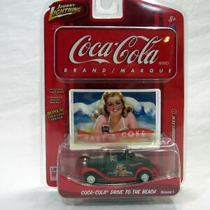 Coca Cola Johnny Lightning 1:64 Drive To The Beach Limited 32 Ford Roadster