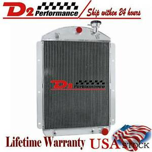 4 Row Radiator For 1941 42 43 44 45 1946 Chevy Truck V8 Small Block Conversion