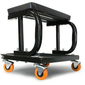 Rolling Creeper Seat Mechanic Stool Chair Garage Workshop Tools Tray Auto Car