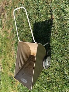 Vintage Metal Garden Cart Advertising Sign Lawn Wheel Barrow Rustic