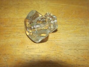 Antique Victorian Clear Glass Drawer Knob Or Pull 1 5 8 Inch