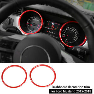 Red Interior Dashboard Ring Cover Trim Decor For Ford Mustang 15 18 Accessories