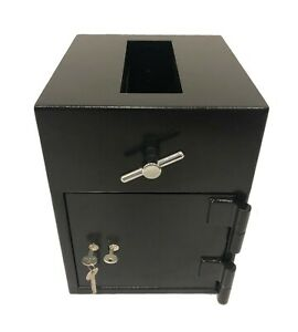 Cash Drop Depository Safe Box With Dual Key Lock