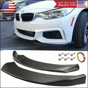 Front Bumper Lip Valance Spoiler Canard Chin Splitters Winglet Blade For Dodge