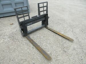 48 Walk thru Pallet Fork W step Skid Steer Loader Attachment Bobcat Gehl Kubota