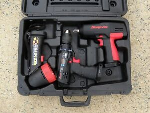 Snap on Cordless 1 2 Impact Wrench Ct3450 Drill Cdr3450 Light Ctl918