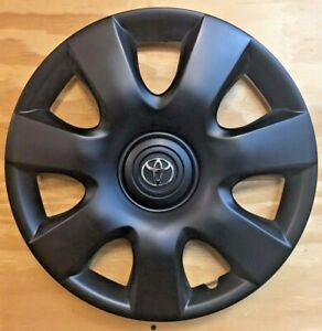 4x15in Black Matte Hubcap Covers Fits Toyota Camry 2000 2001 2002 2003 2004 2006