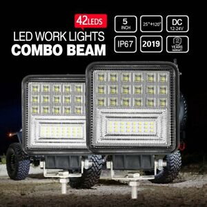 2x Square Pods Led Work Light Spot Lights For Truck Off Road Tractor 12v 24v