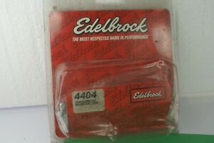New Edelbrock 4404 Chrome Hold Down Tab Kit Small Block Chevy 4 Pieces