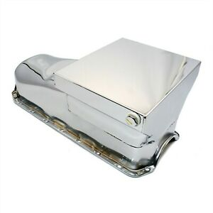 Chrome Drag Race Style Oil Pan 7qt 58 79 Sbc Chevy 283 327 350 400 Small Block