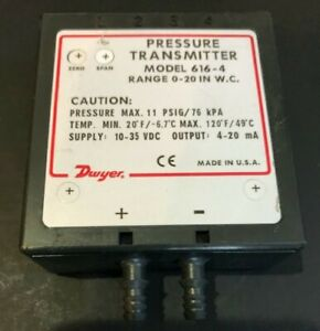 Dwyer 616 4 Pressure Transmitter Used