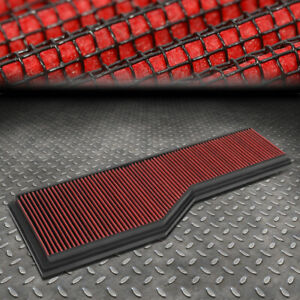 For 99 08 Porsche 911 3 4 3 6 3 8l Washable Drop In Air Filter Intake Panel Red