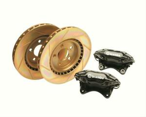 Ford Racing Disc Brakes Front Slotted Rotors 4 piston Calipers Ford Mustang Kit