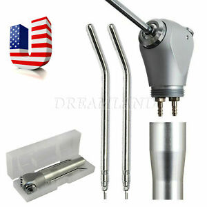 Dental Air Water Spray Triple Syringe Handpiece 1 100 nozzles Tips Tubes 3 in 1