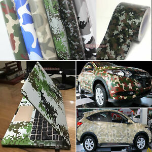 Stretch Camouflage Camo Car Digital Desert Forest Vinyl Wrap Decal Sticker Us