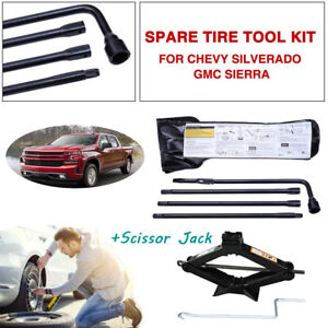 Car Spare Tire Tools For Chevy Silverado gmc Sierra 2000 2014 scissor Lift Jack