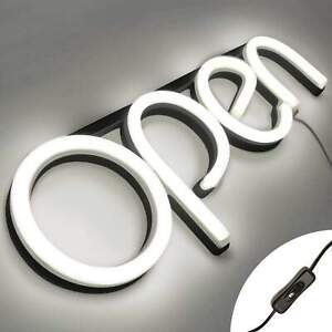 Led Neon Open Sign Light For Business With On Off Switch White