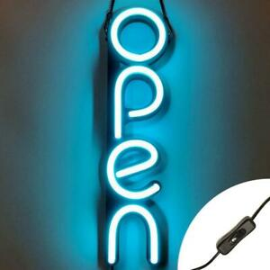 Vertical Led Neon Open Sign Light For Business