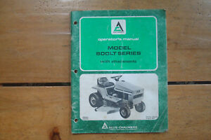 1977 Allis chalmers Model 600lt Series Garden Tractor Operator s Manual