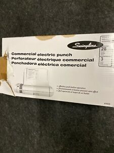 Swingline 28 sheet Commercial Electric Punch 9 32 Holes Silver Platinum